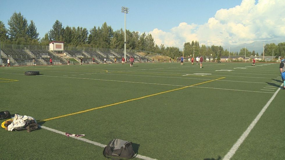 The Dimond High football team returned to practice on August 17th.
