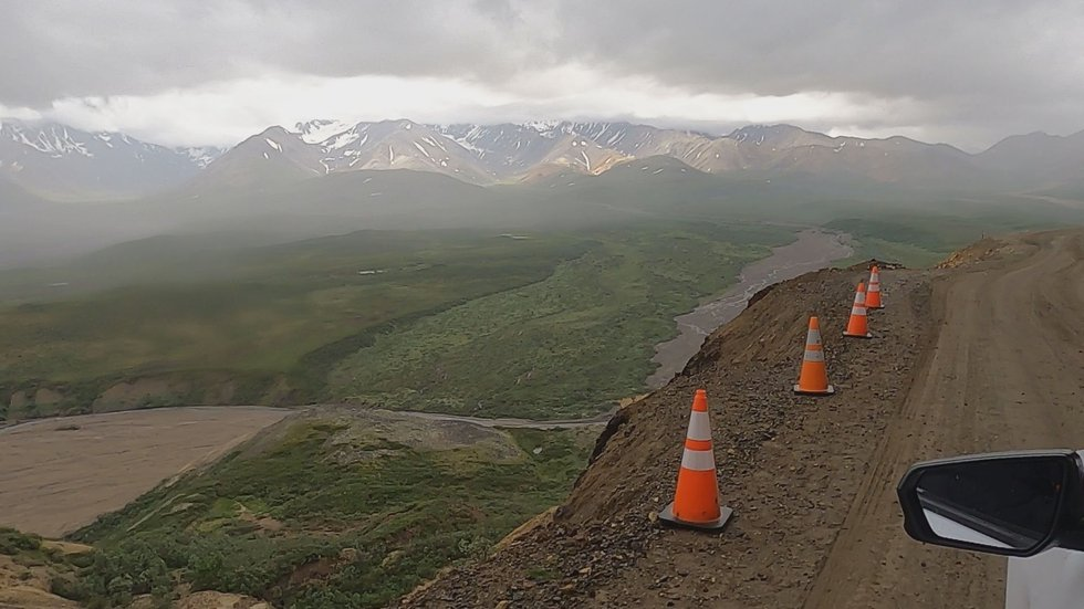 """Looking across the """"Plains of Murie"""" near """"Polychrome Pass,"""" in Denali National Park and..."""
