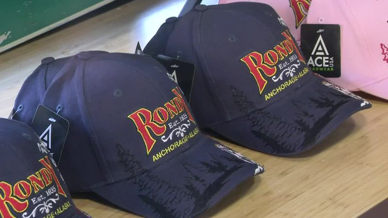 Caps are among the items on sale at Fur Rondy Store