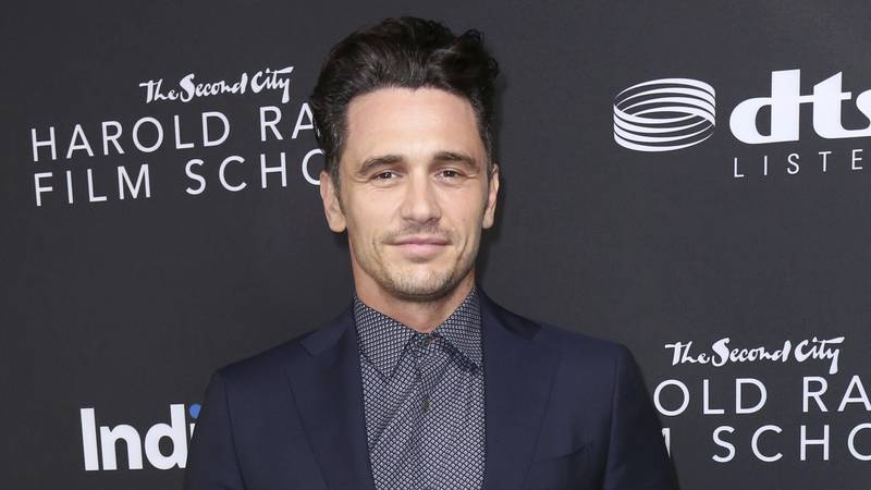 FILE - James Franco arrives at IndieWire Honors on Nov. 2, 2017, in Los Angeles. Franco and his...