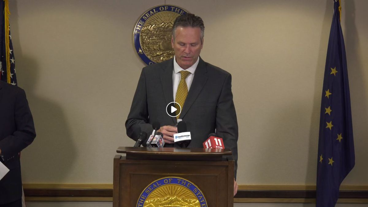 Gov. Dunleavy announces the creation of an opt-in program for public-sector unions that he says will help bring the state into compliance with a 2018 U.S. Supreme Court decision. (Image from the governor's Facebook page)