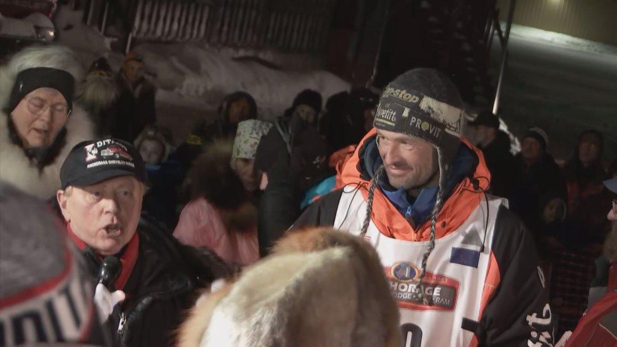 Thomas Waerner, of Norway, took home the 2020 Iditarod Champion title. Courtesy Iditarod...