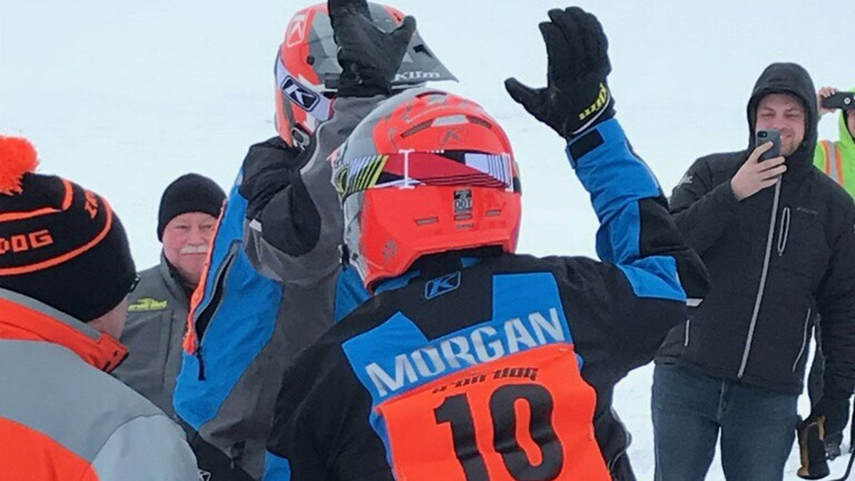 Team 10 of Mike Morgan and Chris Olds was the first to arrive in Nome Wednesday afternoon....