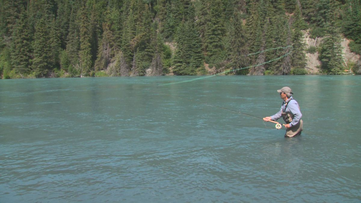 Fly fishing on the Kenai River. (KTUU)