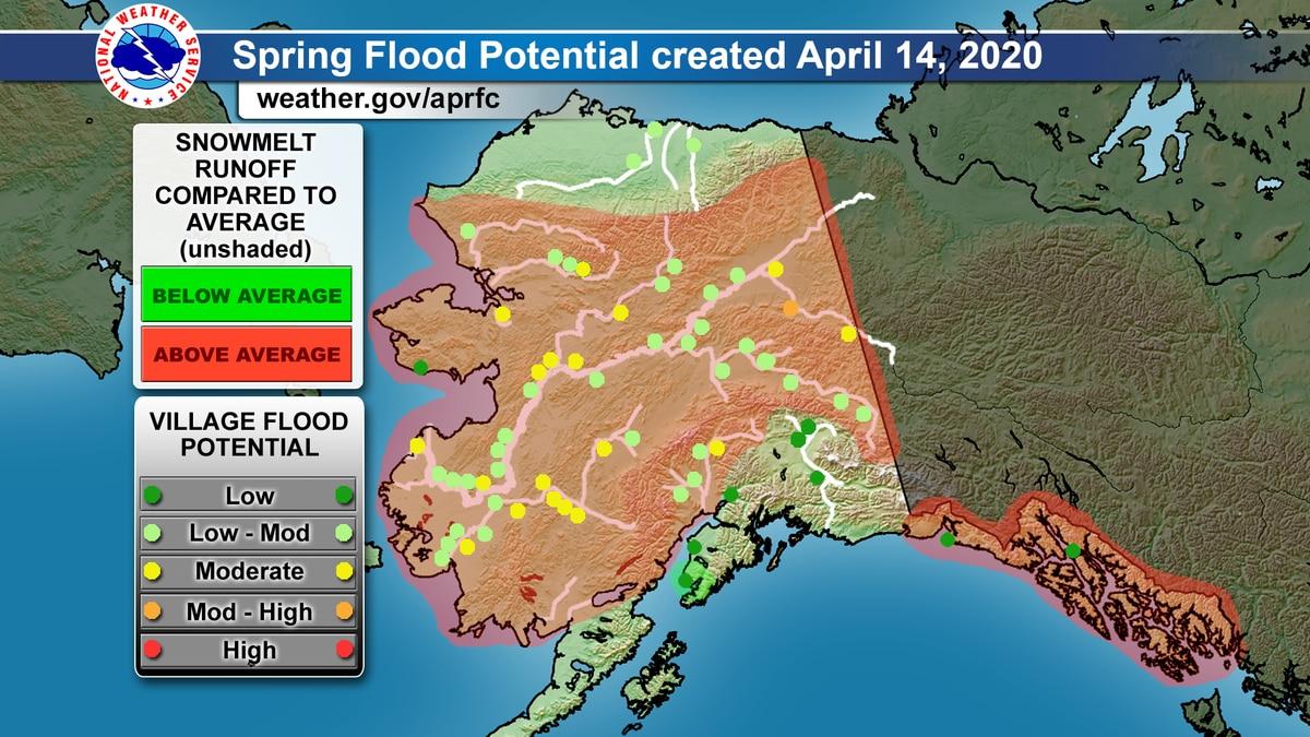 NWS Spring Flood Potential April 14, 2020