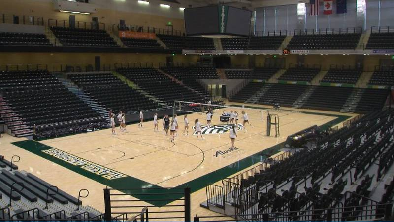 Teams prepare for the Seawolf Invitational, the first sporting event at the Alaska Airlines...