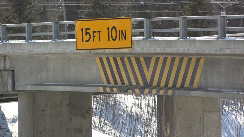 A shot off the highway ramp of the Eklutna overpass. In the southbound lane, someone cracked...