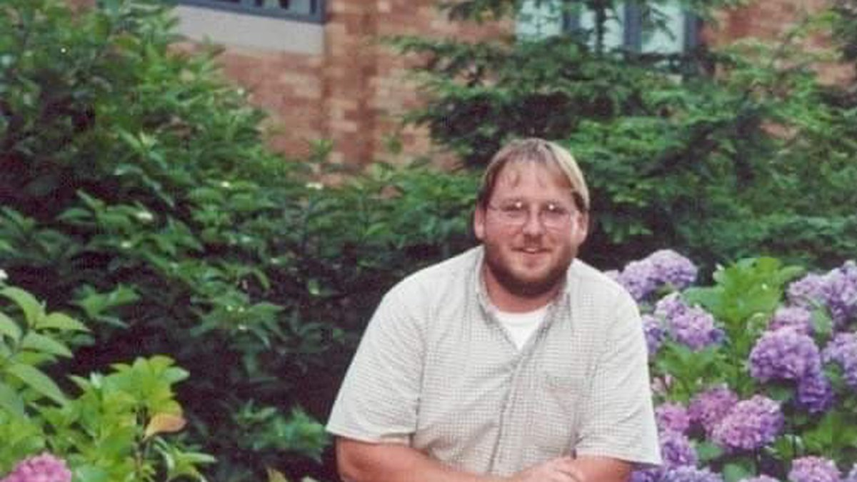Paul Lachance pictured with his former dog Tucker.