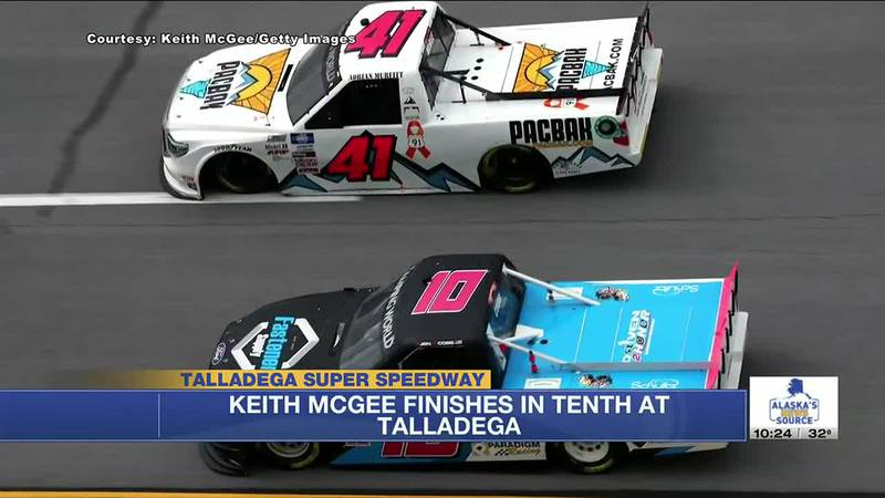 Keith McGee finished in the top 10 at a Talladega NASCAR race over the weekend.