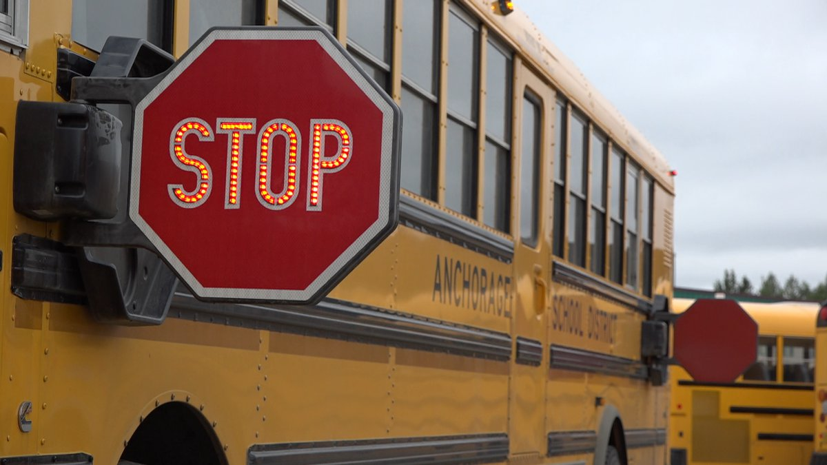 One of the general education buses for Anchorage School District.