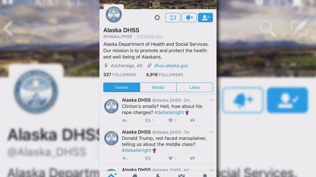 Screen grab of DHSS tweets during debate