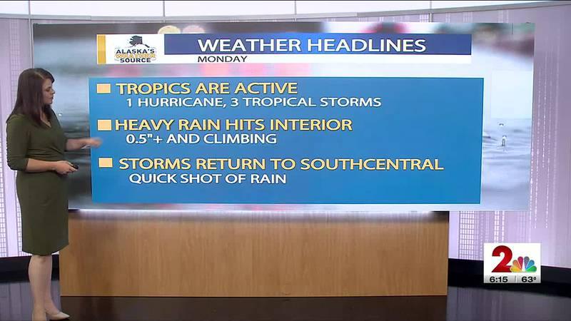 Rain returns to Southcentral Alaska.