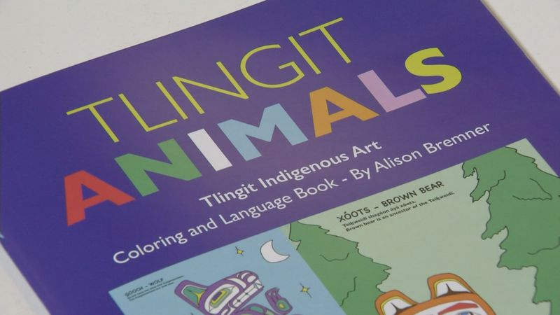 The new coloring language book Tlingit Animals by Alison Bremner celebrates Tlingit culture.