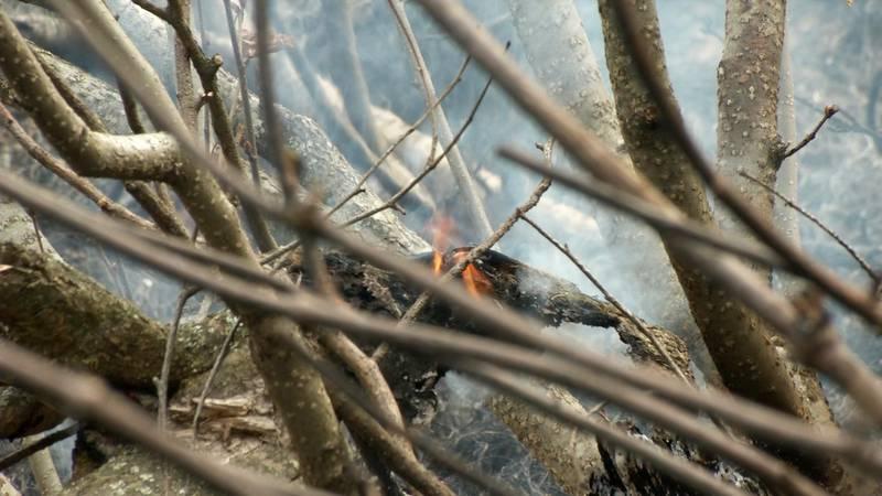 Crews mop up prescribed burn on JBER.