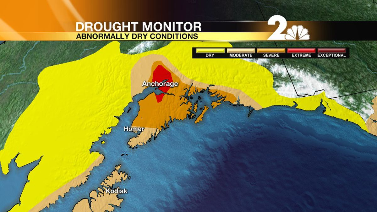 Anchorage drops into Extreme Drought for the first time ever.