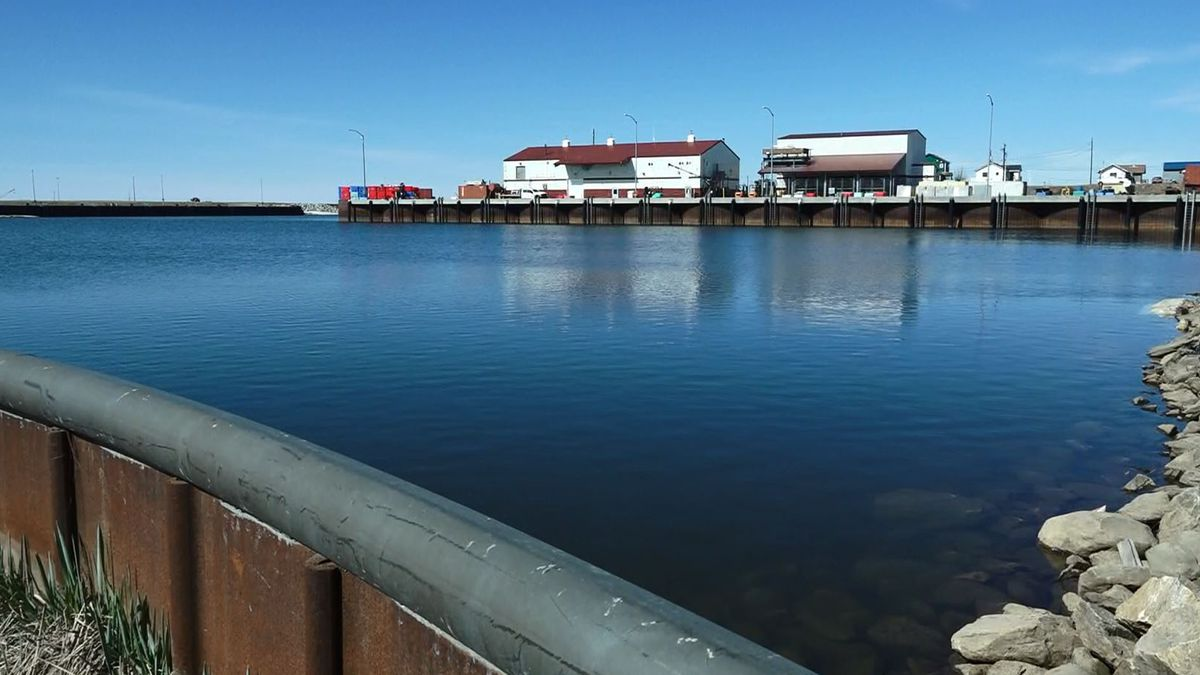 A portion of Nome's port, pictured in May of 2021.
