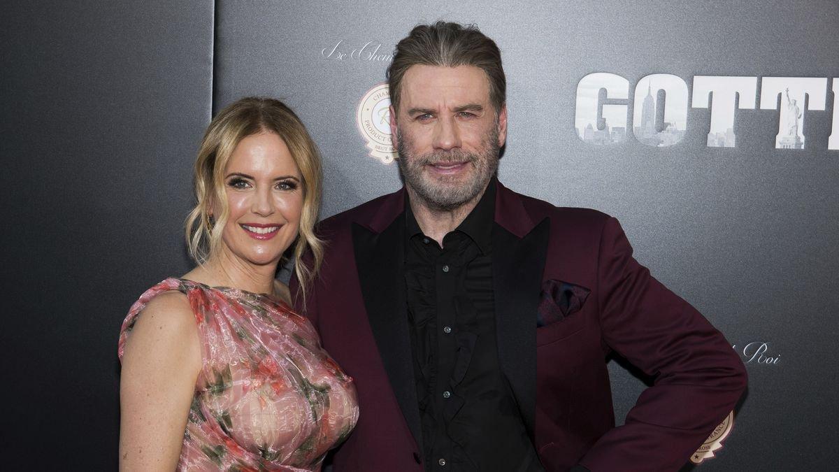 """Kelly Preston and John Travolta attend the premiere of """"Gotti"""" at the SVA..."""