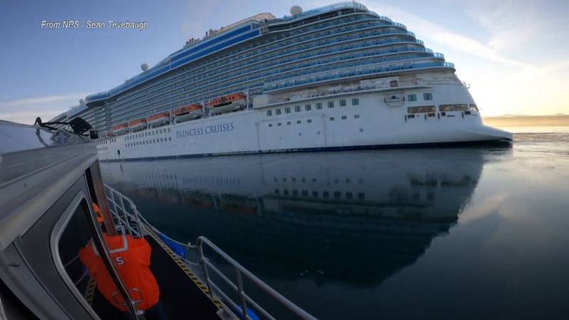 Rangers are set to board a cruise ship going through Glacier Bay National Park and Preserve in...