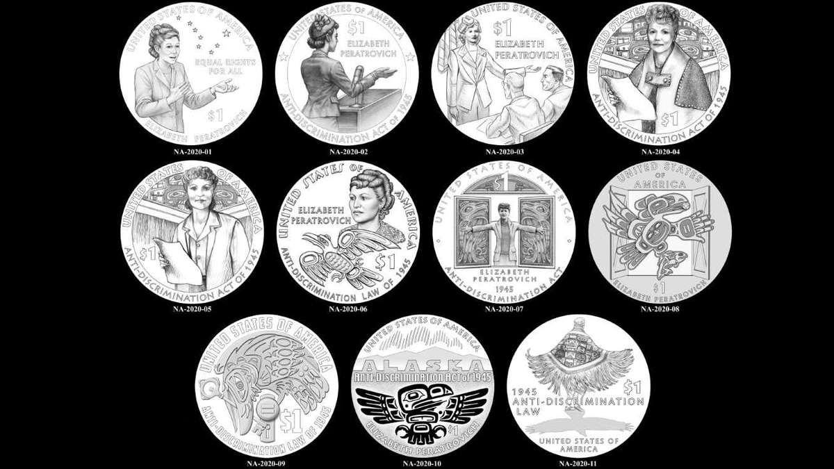 One of these 11 designs will be used to form the new $1 dollar coin.