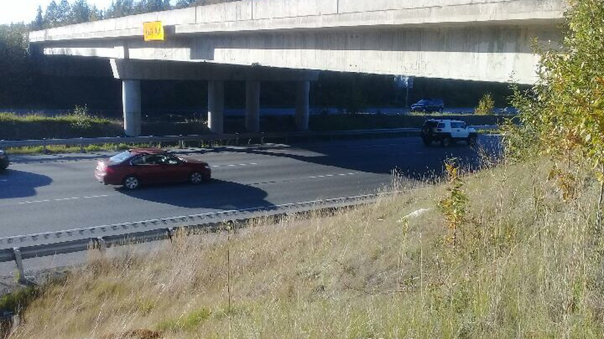 A semi truck reportedly hit the Hiland Rd. overpass and continued driving Monday. DOT says...