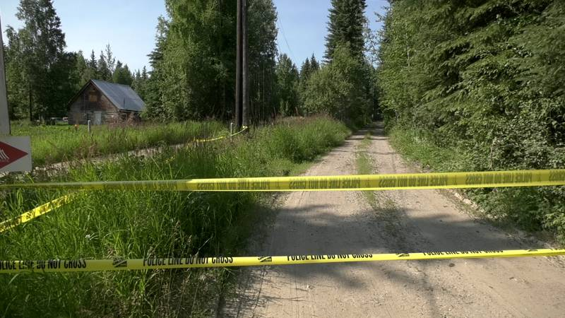 Police tape blocks off the driveway of a home that was burned to the ground. A string of arsons...