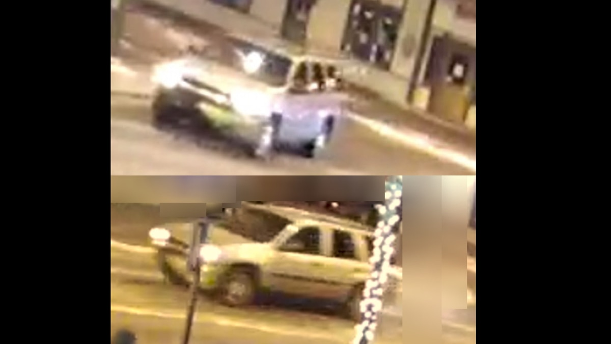Police want to talk to the occupants of this vehicle on New Year's morning. (Photo from Anchorage Police)