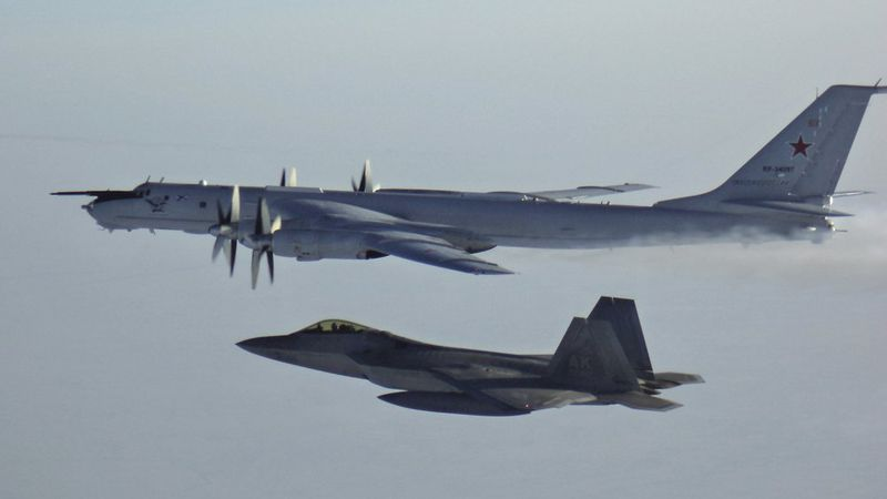 In this March 9, 2020 photo released by the North American Aerospace Defense Command (NORAD), a...