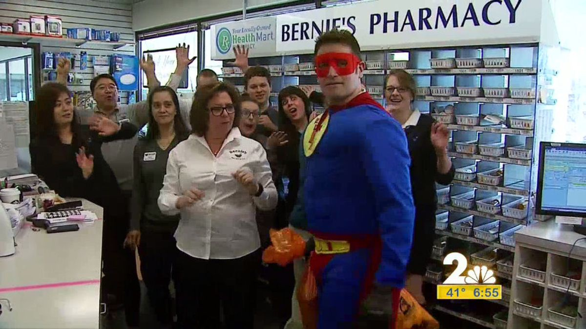 The Trash Terminator crashed this week's breakfast club visit to Bernie's Pharmacy in Anchorage.