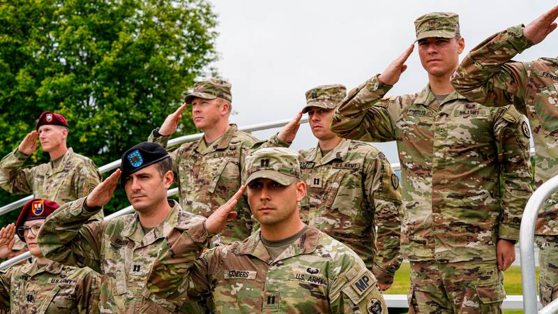 Scenes from the U.S. Army Alaska change of command ceremony on Pershing Field inside Joint Base...