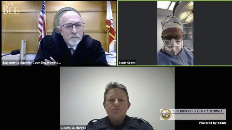 This Thursday, Feb. 25, 2021, Zoom video conference collage captured by The Sacramento Bee,...
