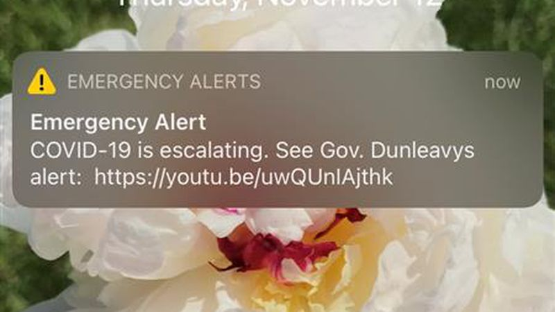 Gov. Mike Dunleavy used the emergency alert system to share a three and a half minute YouTube...