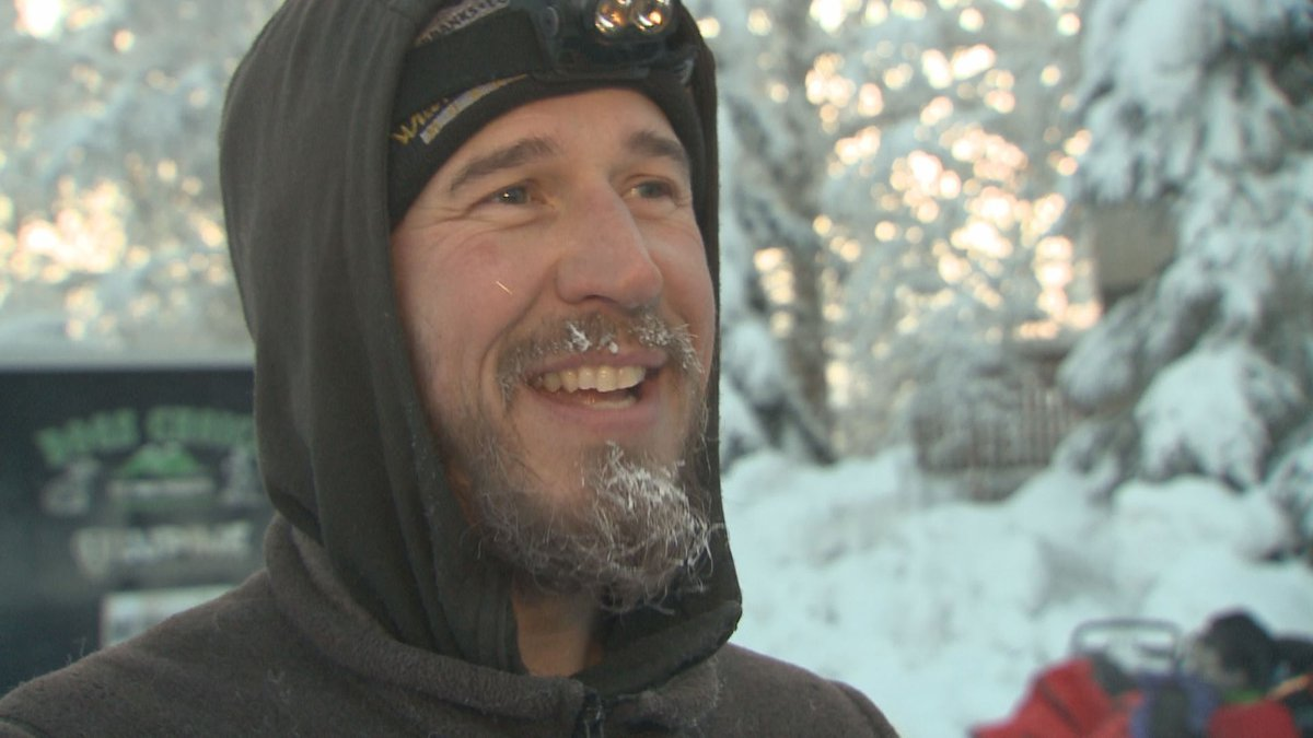 Veteran Musher Brent Sass at the start of the 2020 Yukon Quest in Fairbanks, Alaska. (KTUU)