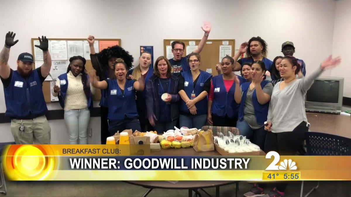 This week's breakfast club visit was to Goodwill Industry.
