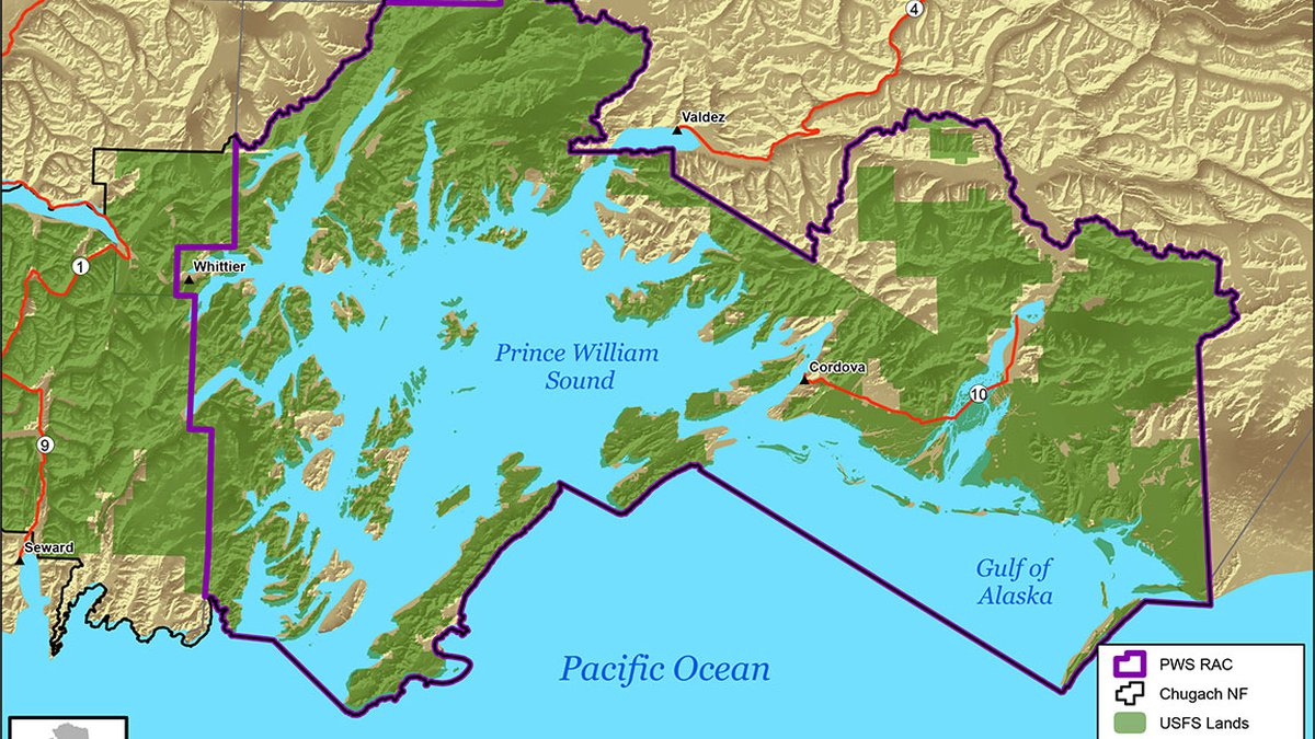 A map shows where proposed projects can take place in the Prince William Sound Resource...