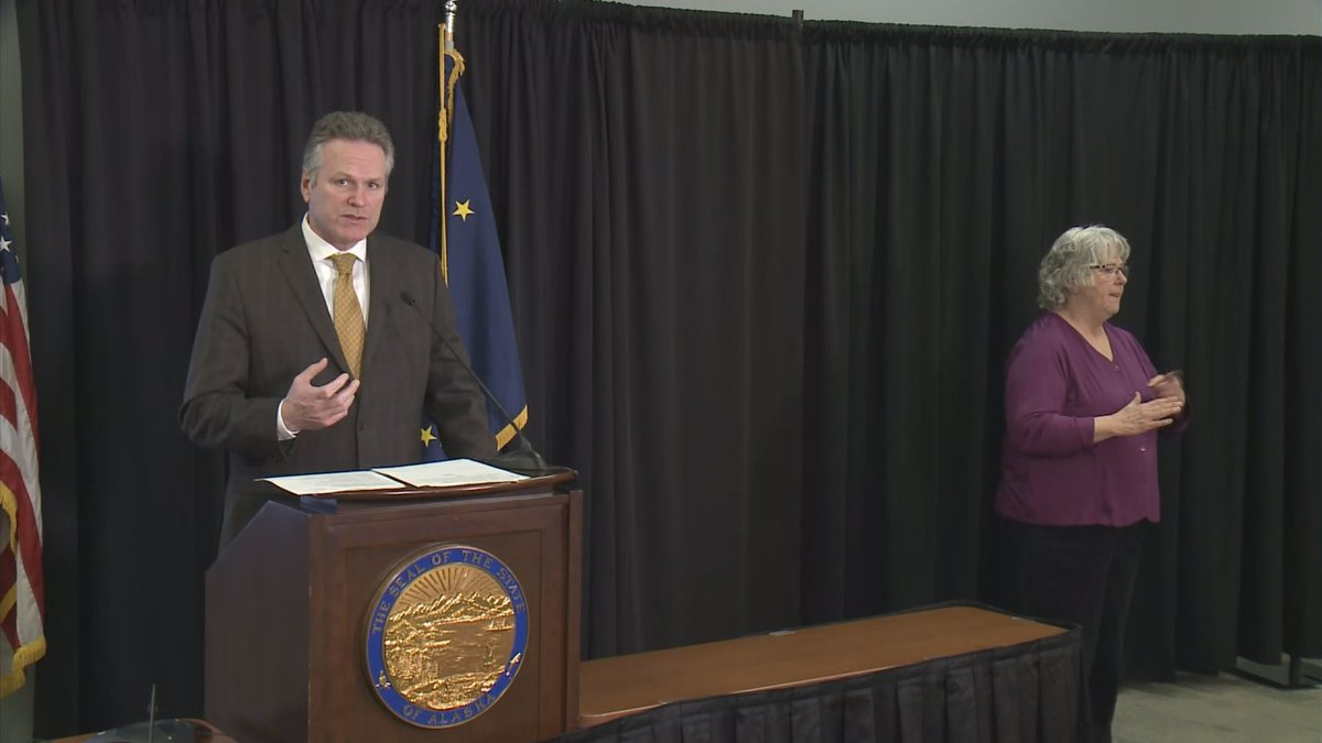 Gov. Mike Dunleavy announcing his vetoes to the FY21 budget. (04/07/20)