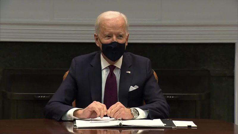 President Joe Biden made brief remarks Friday before meeting with Treasury Secretary Janet...