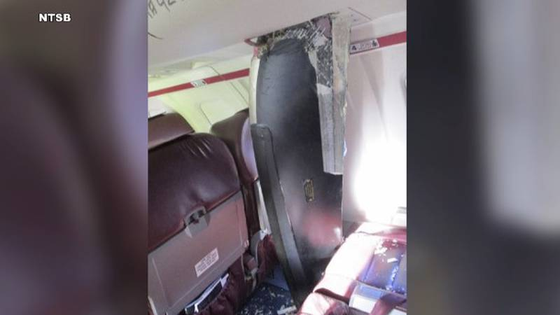 This photo shows the propeller that killed a passenger onboard a 2019 PenAir flight after it...
