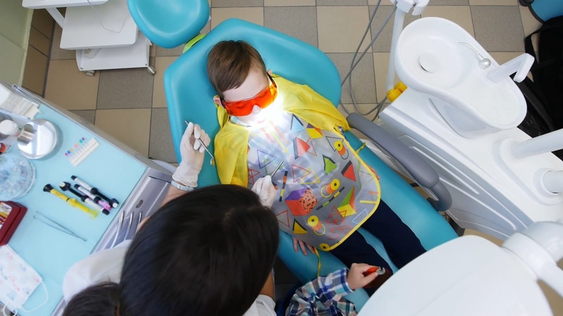 The American Dental Association's National Children's Dental Health month occurs every February.
