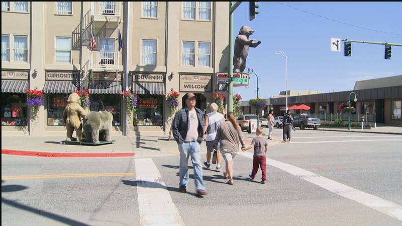 Business is booming in downtown Anchorage as people are headed back for shopping and dinning.