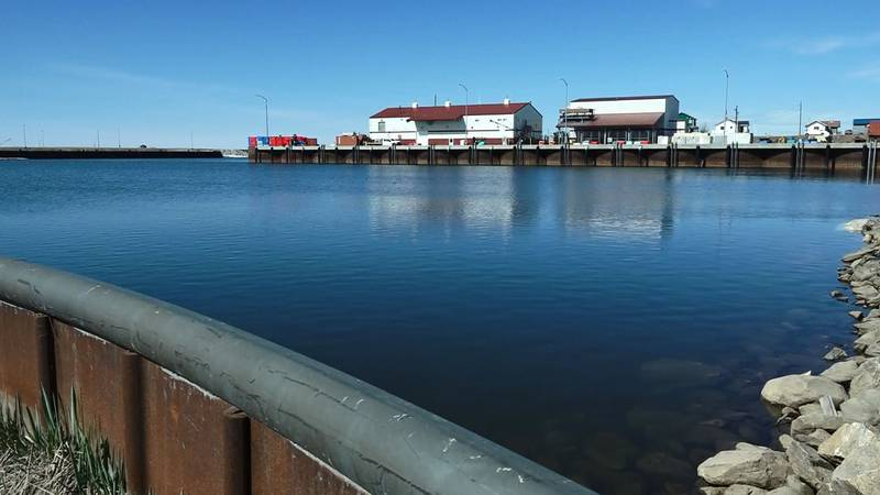 Nome's port, pictured in May 2021.