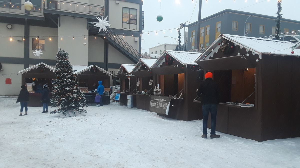 Anchorage Downtown Christmas Market features local vendors.