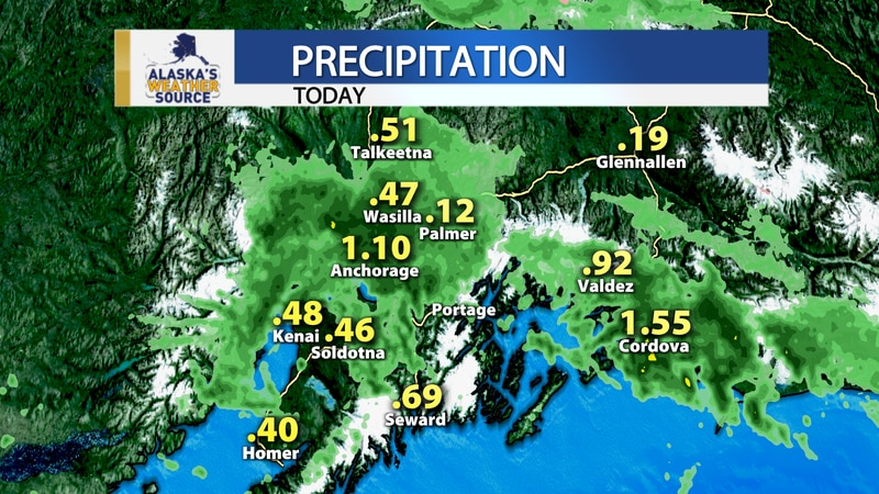 Anchorage hit 1.10 inches of rain which is a new record for Aug. 8.