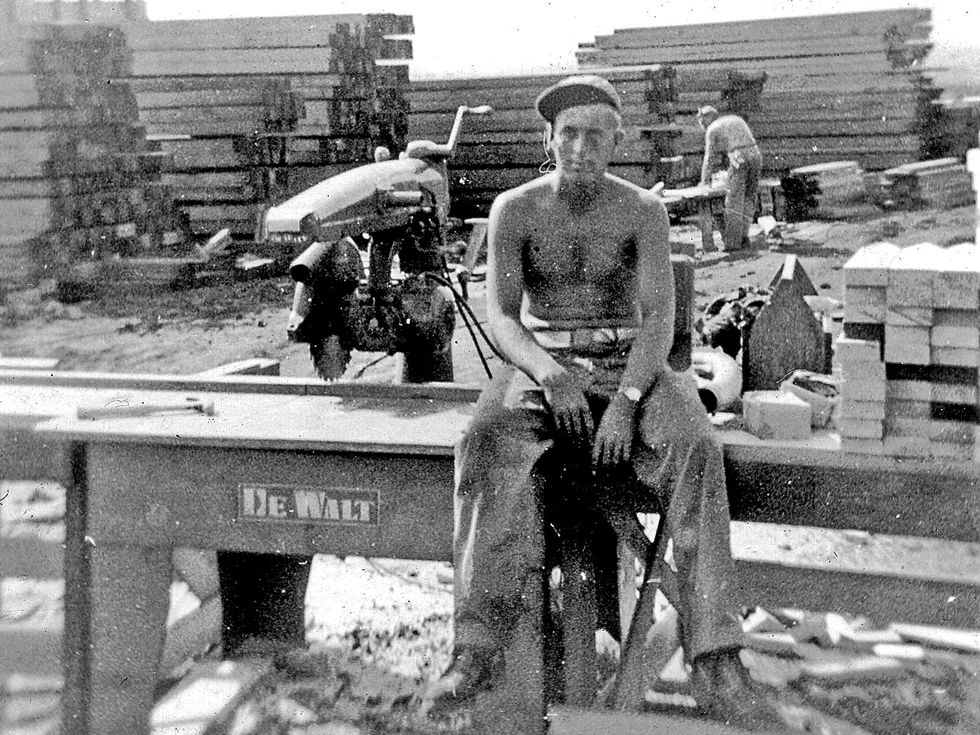 Louis Palmer worked as a carpenter with the 95th Naval Construction Battalion during WWII