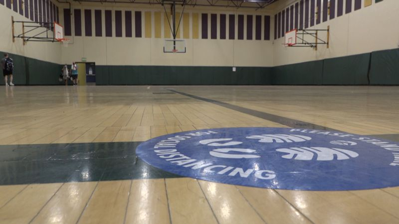 The Alaska Club South gymnasium where a pop-up vaccination clinic will be held on Thursday,...