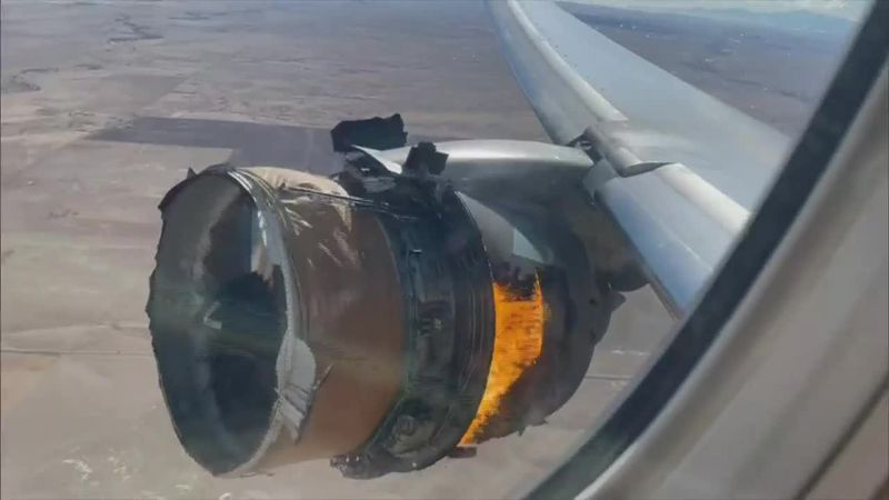 Passengers described seeing debris falling from the plane to the ground below as the crew...