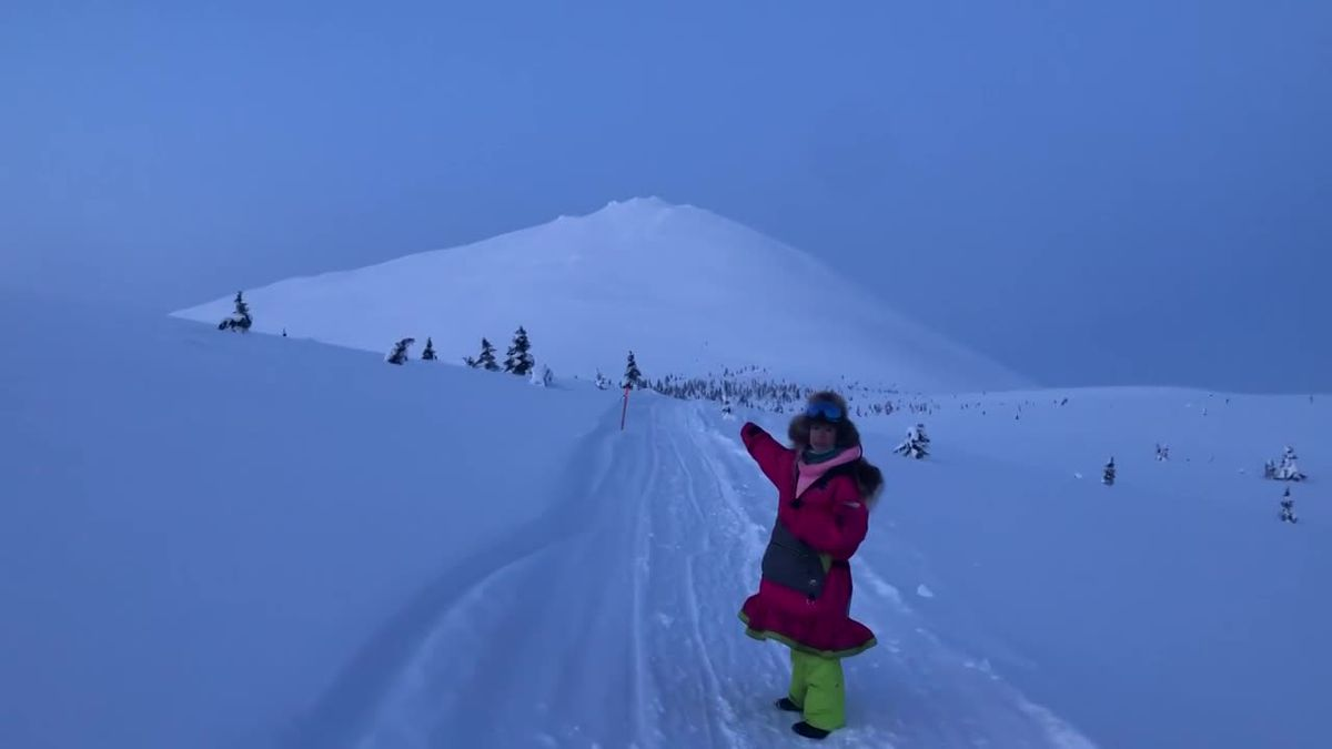 "DeeDee Jonrowe shows us the hill-climb known as ""Little McKinley."" (KTUU)"