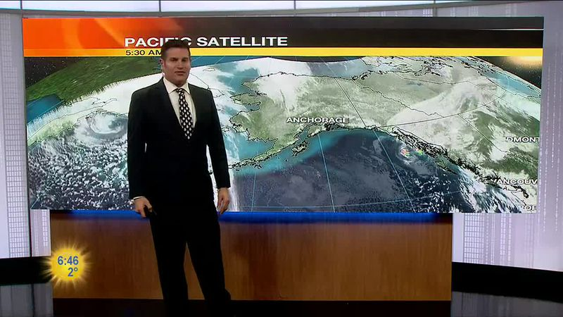 Clear skies across Southcentral as temperatures stay below average