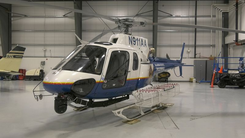 Alaska State Troopers Helicopter used for search and rescue and law enforcement missions.
