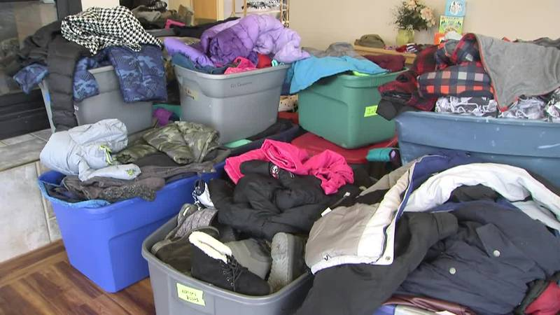 """Some of the items collected during """"Winter Up"""" drive to help children of military families stay..."""