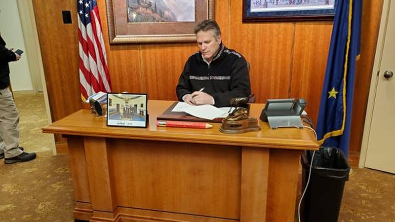 Governor Mike Dunleavy signs Disaster Declaration